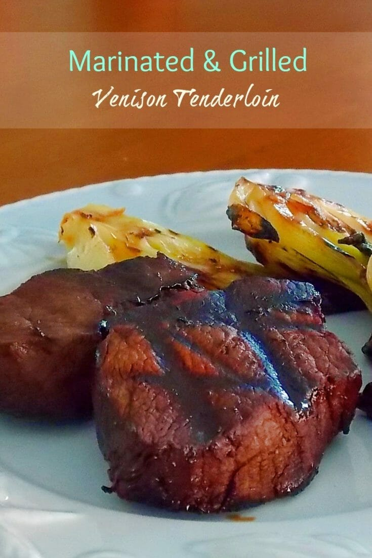 Marinated and Grilled Venison Tenderloin #venison #grilled #marinade #sauce