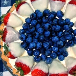 Red, White, and Blueberry Pie