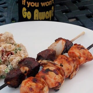 Venison and Chicken Skewers