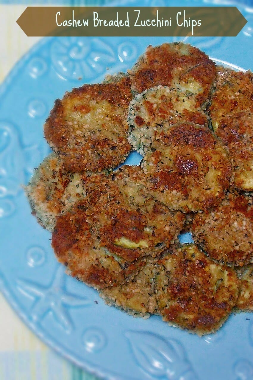 Cashew Breaded Baked Zucchini Chips