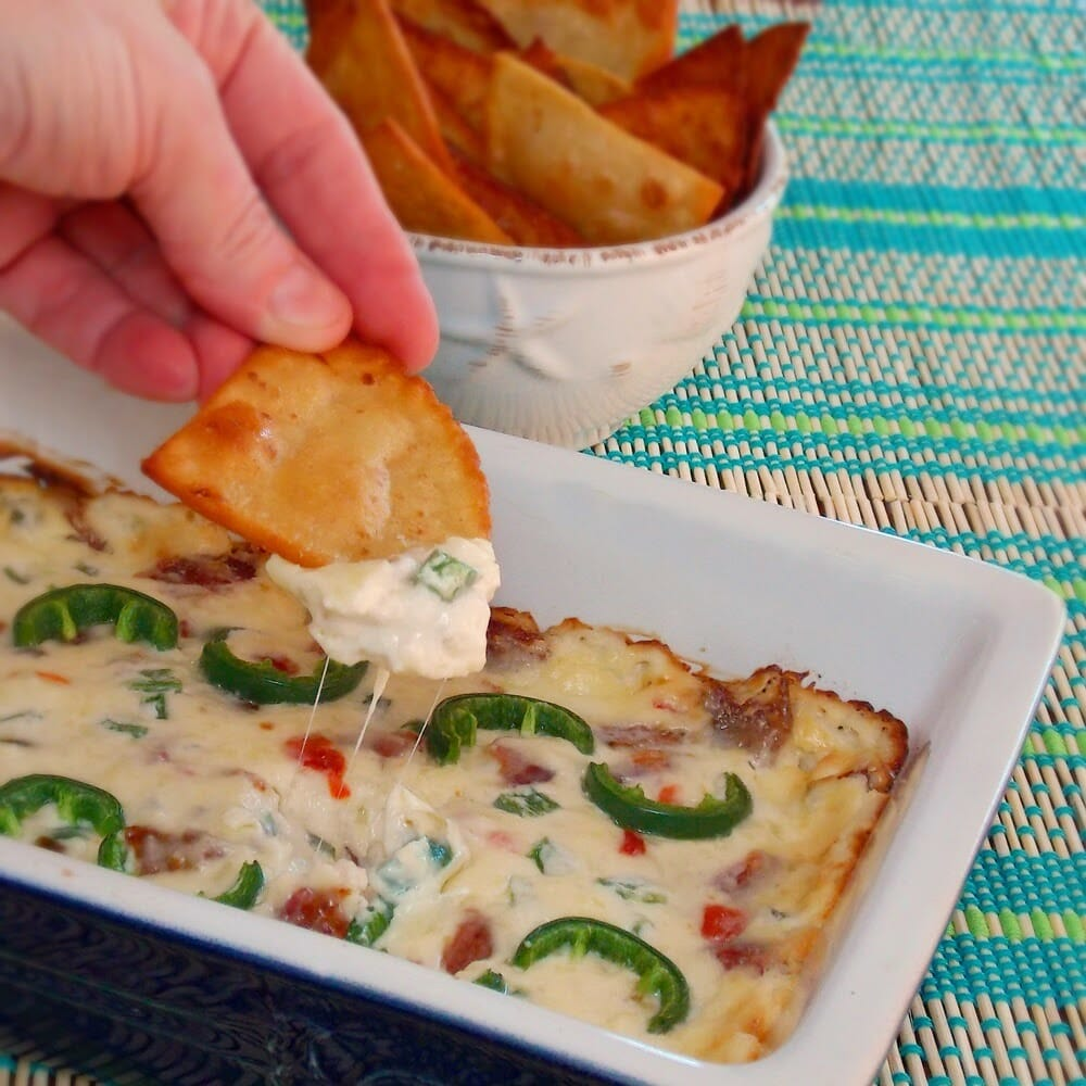 Jalapeno Popper Dip #bacon #cheese #jalapeno