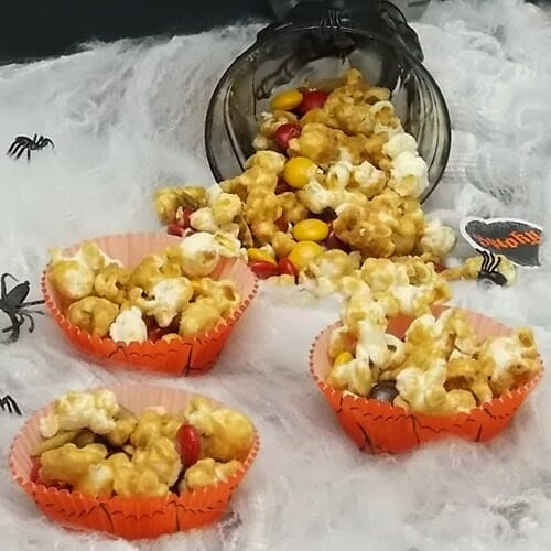 Pumpkin Spice Caramel Corn Snack Mix