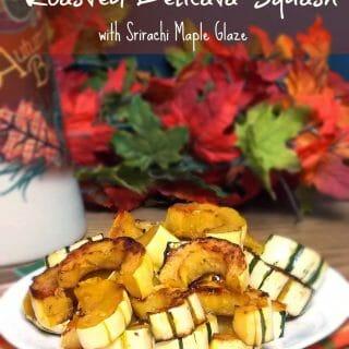 Roasted Delicata Squash with Srirachi Maple Glaze