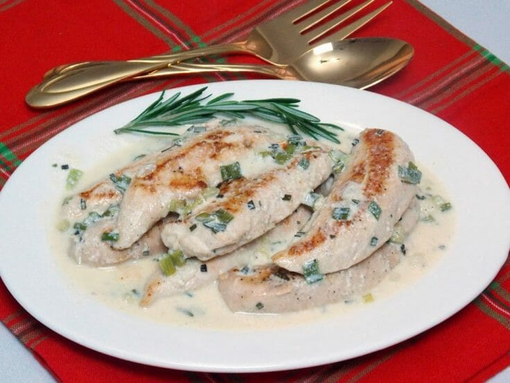 Chicken with Rosemary Sauce #lowcarb #ketorecipe #chicken