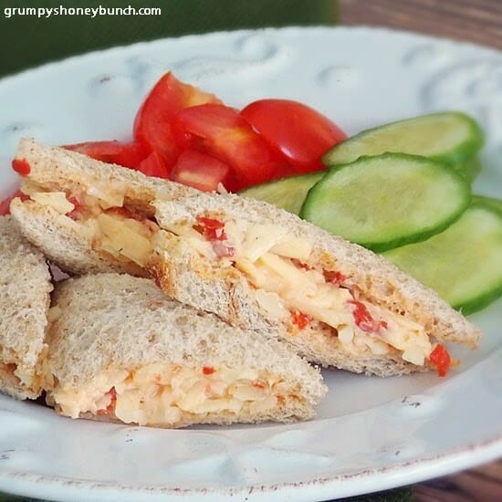 Pimento Cheese Tea Sandwiches