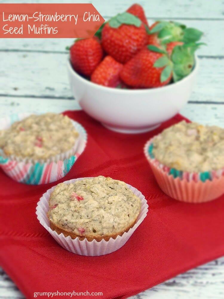 Lemon Strawberry Chia Seed Muffins Grumpy S Honeybunch