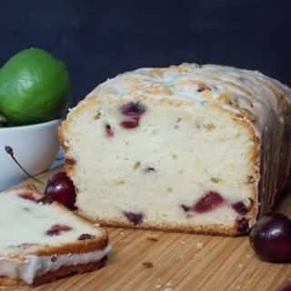 Cherry Poundcake with Lime Glaze #SundaySupper