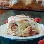 Raspberry Rhubarb Sweet Rolls #SundaySupper