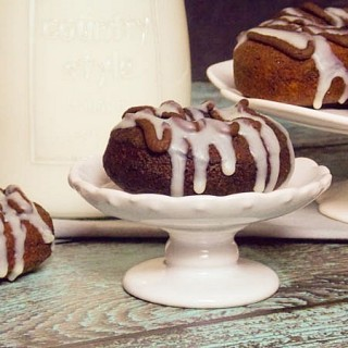 Chocolate Doughnuts with White and Chocolate Drizzle #IsabelsBirthdayBash