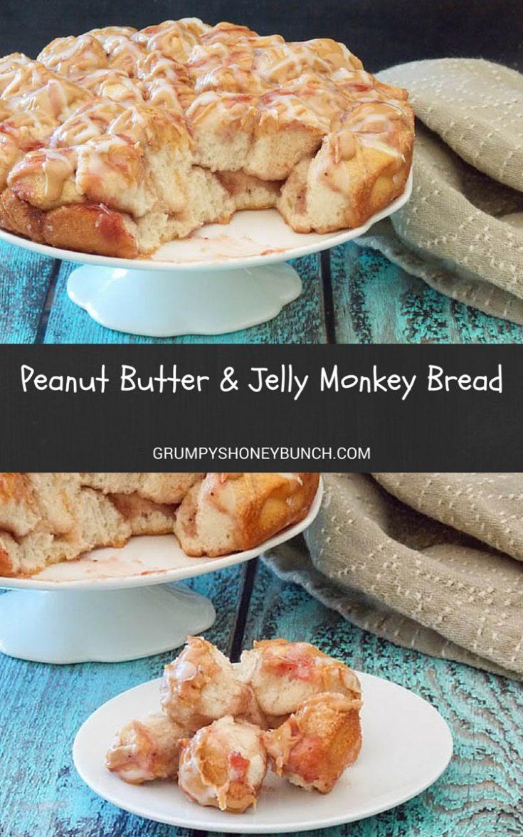 Peanut Butter & Jelly Monkey Bread