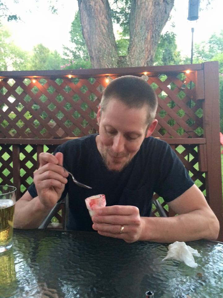 Mr. B Enjoying the Fireball Whisky Shot