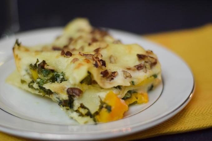 Butternut Squash Kale Lasagna