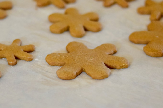 Gingerbread Snowflake Cookies
