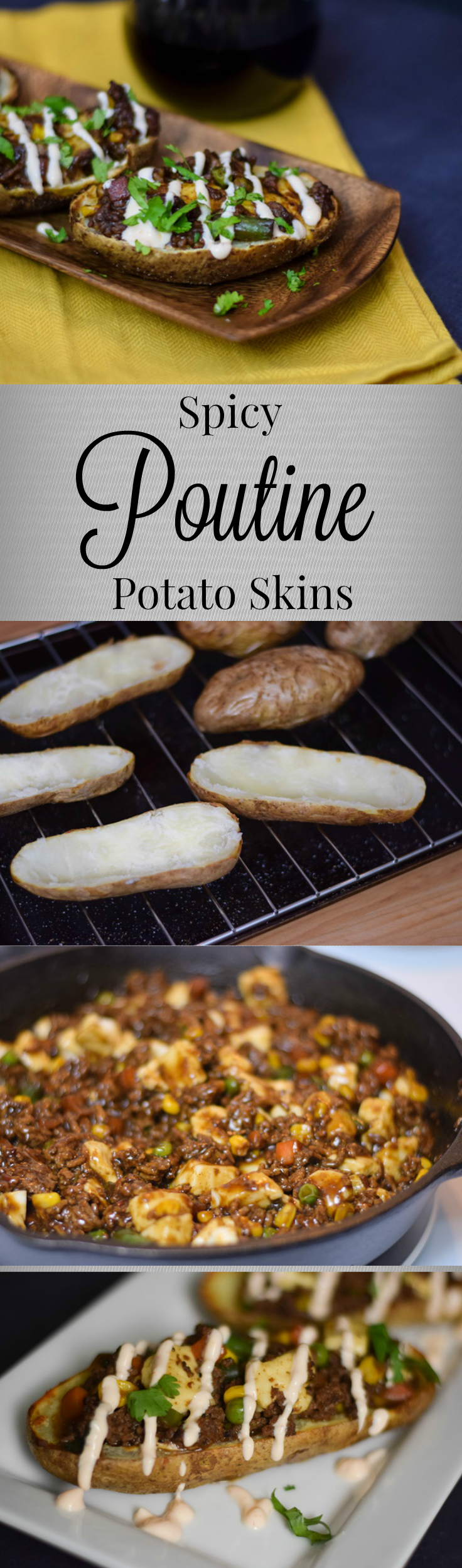 Spicy Poutine Potato Skins