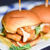 Easy Shrimp Po Boy Sliders