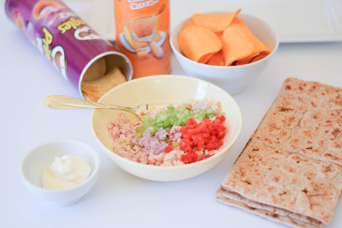 Crunchy Tuna Lavash Wrap