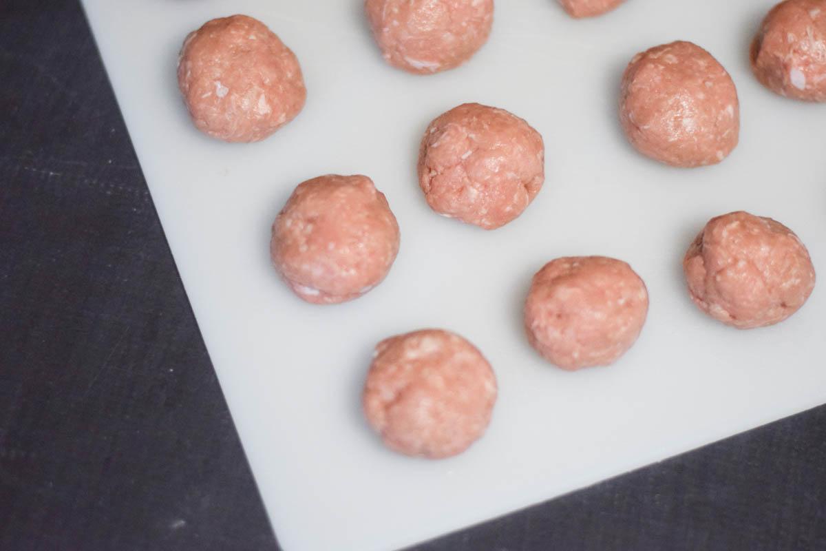 Sriracha Sesame Turkey Meatballs