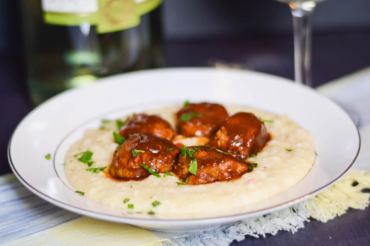 Sriracha-Sesame Turkey Meatballs