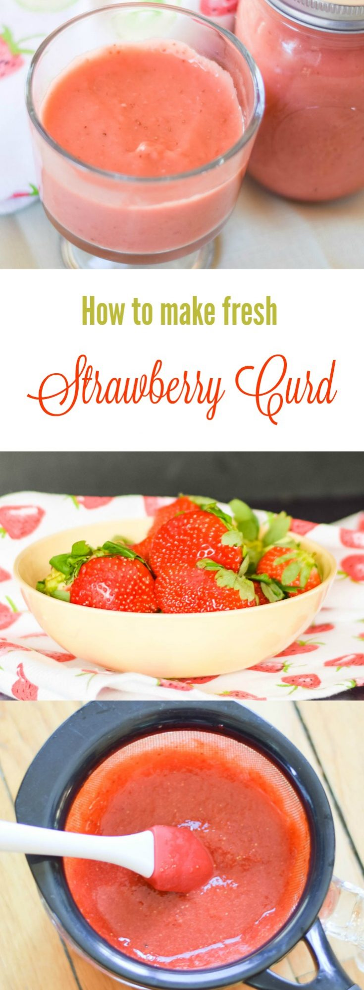 Homemade Strawberry Curd #strawberries #strawberrycurd #strawberryrecipe