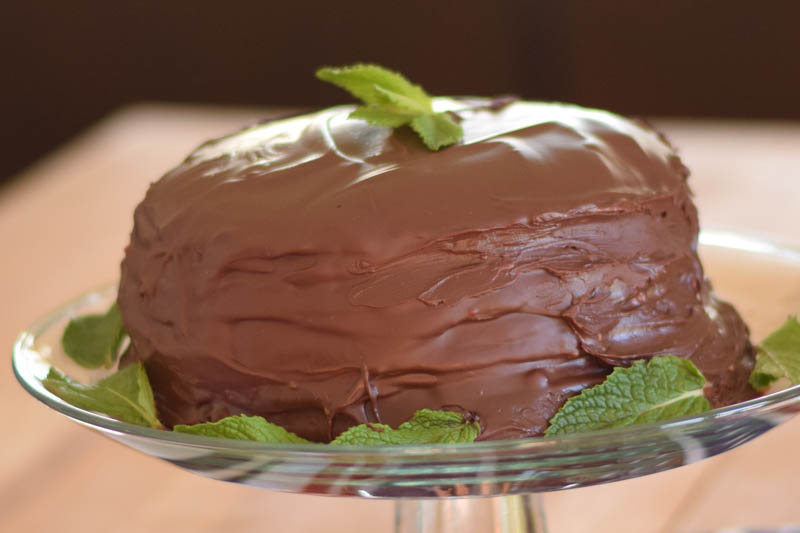 Minty Boston Cream Crepe Cake