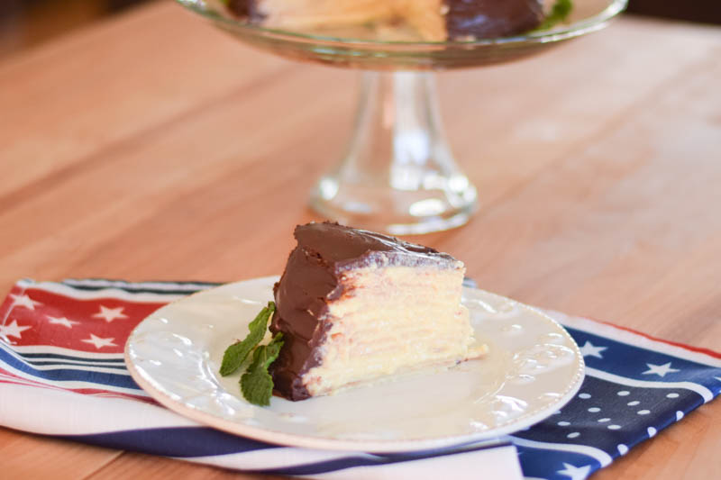 Boston Cream Crepe Cake-3