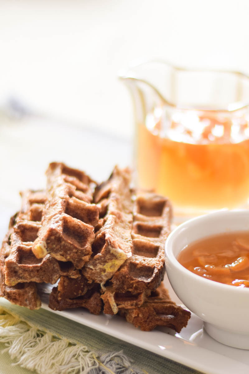 Waffled French Toast with Meyer Lemon Maple Syrup