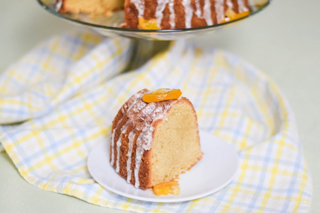 Rustic Pound Cake with Meyer Maple Glaze