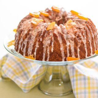 Rustic Poundcake with Meyer Maple Glaze