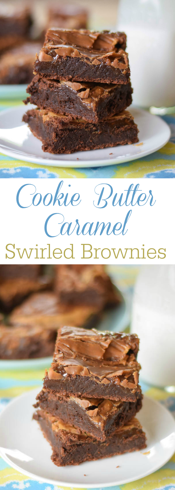 Cookie Butter Caramel Swirled Brownies