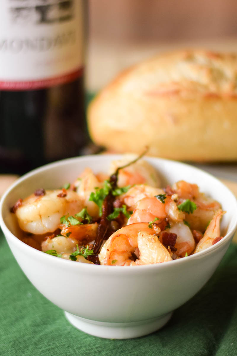 Garlicky Shrimp in Pancetta Olive Oil