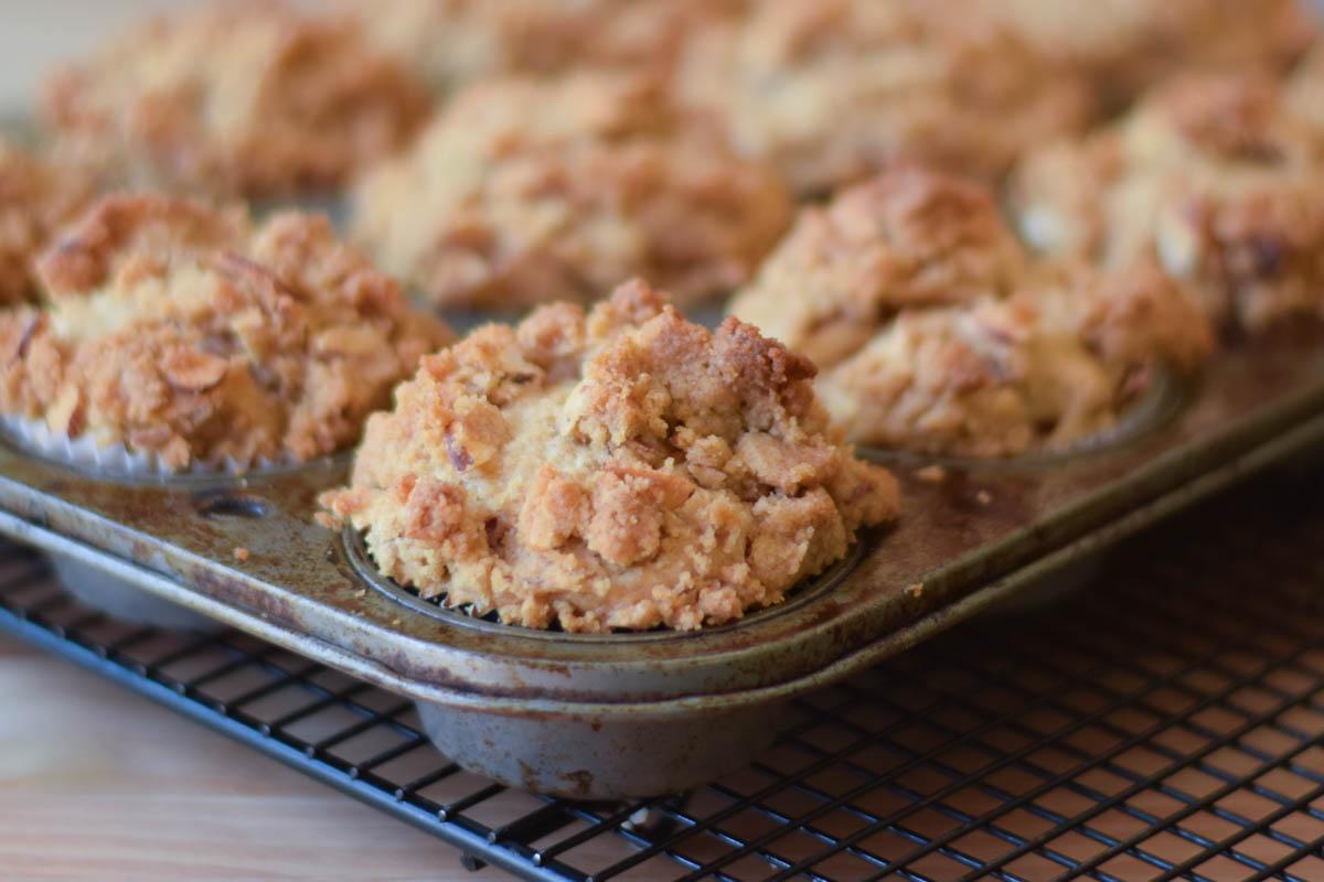 Rhubarb Crumb Muffins