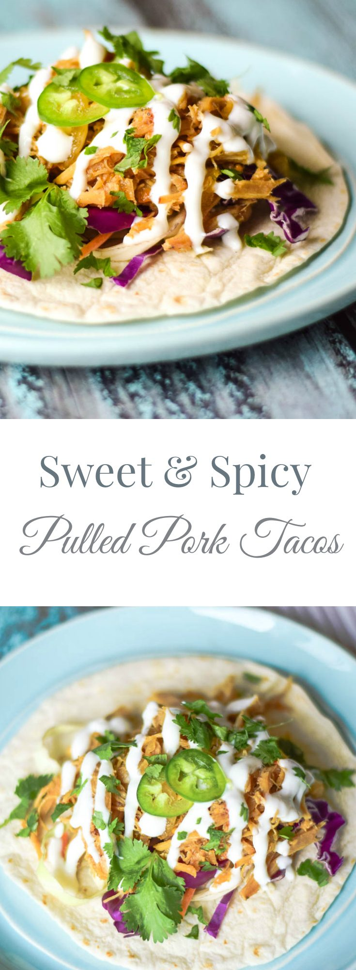 Sweet & Spicy Pulled Pork Tacos #tacos #pork #pulledpork #mexicanrecipe