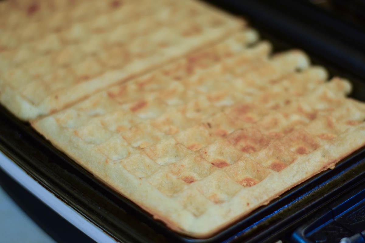 Asiago Waffle Egg Sandwiches