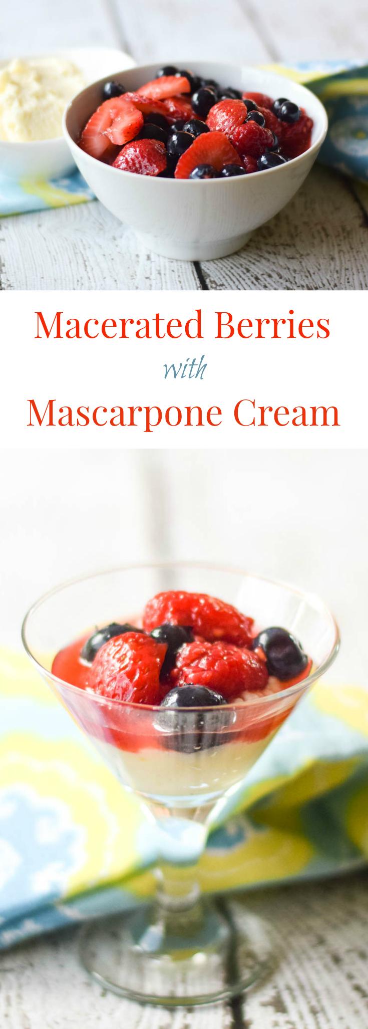 Macerated Berries with Mascarpone Cream