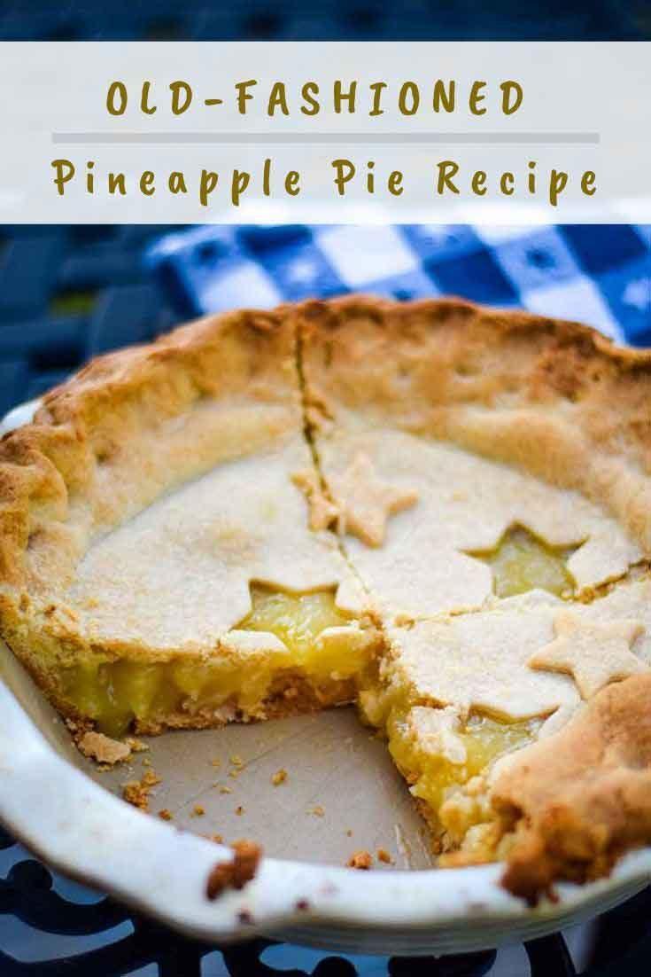 Pineapple Pie #pie #baking #pineapple #coconut