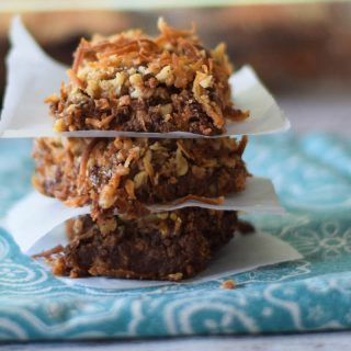 Chewy Peanut Butter Layer Bars
