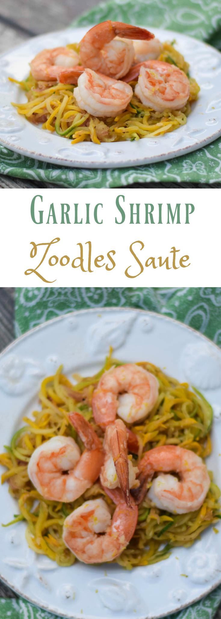 Garlic Shrimp Zoodles Saute
