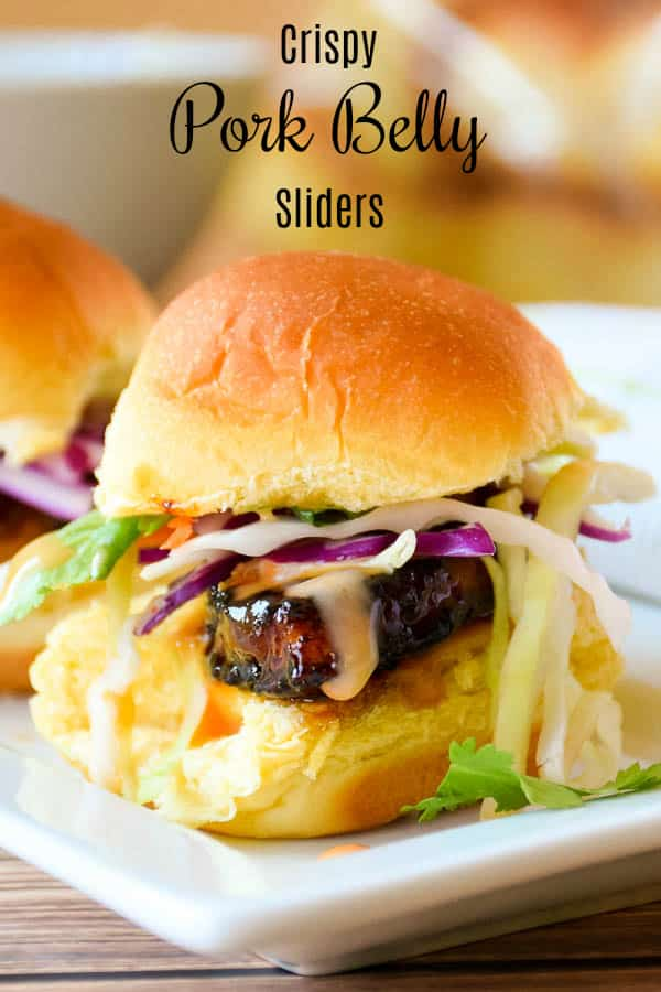 Crispy Pork Belly Sliders #porkbelly #sliders #appetizers #sandwiches