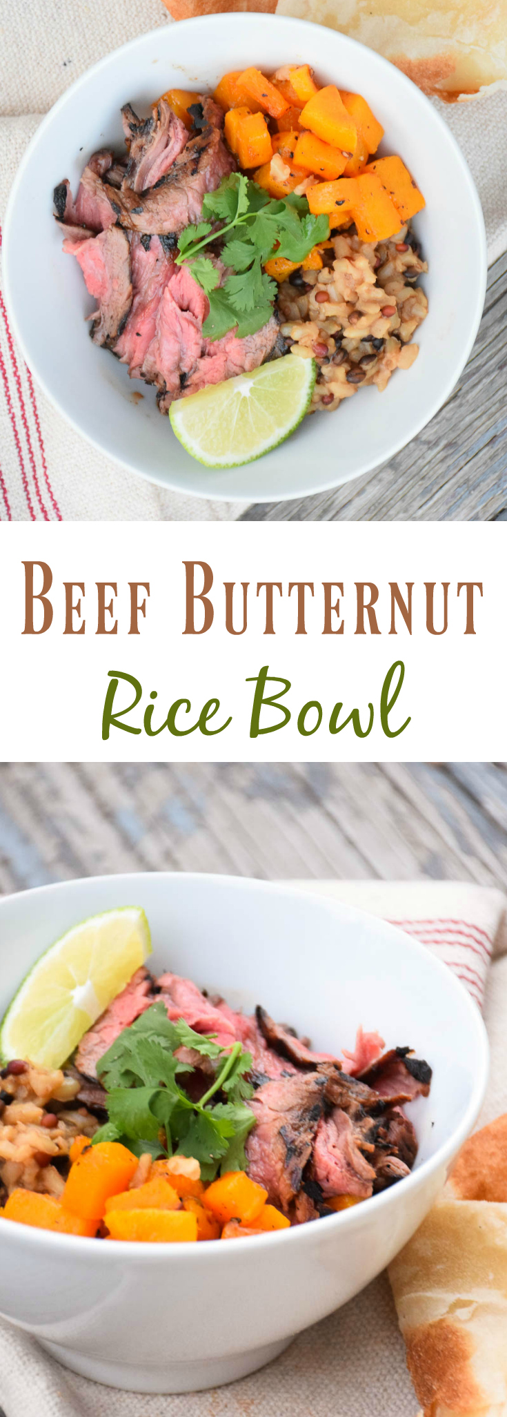 Butternut Steak Rice Bowl