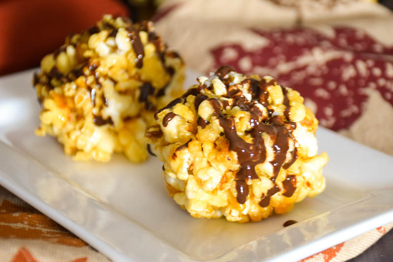 Honey Popcorn Ball Bites