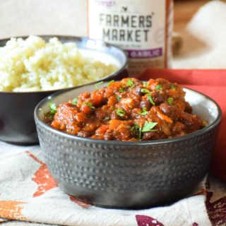 Roasted Garlic Meatball Chili