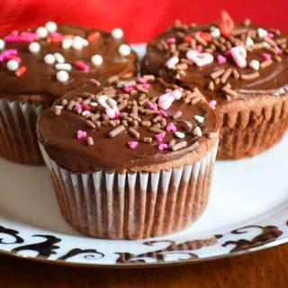 Chocolate Espresso Cupcakes #ValentinesDayFood