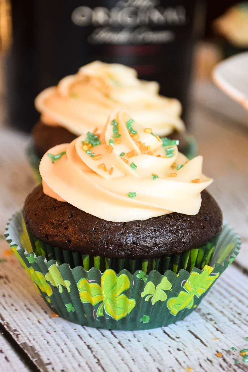 Chocolate Cupcakes with Bailey's Irish Cream Frosting