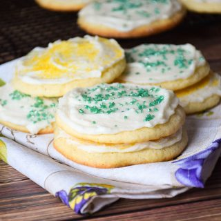 Nanny's Sugar Cookies with Orange Moscato Frosting