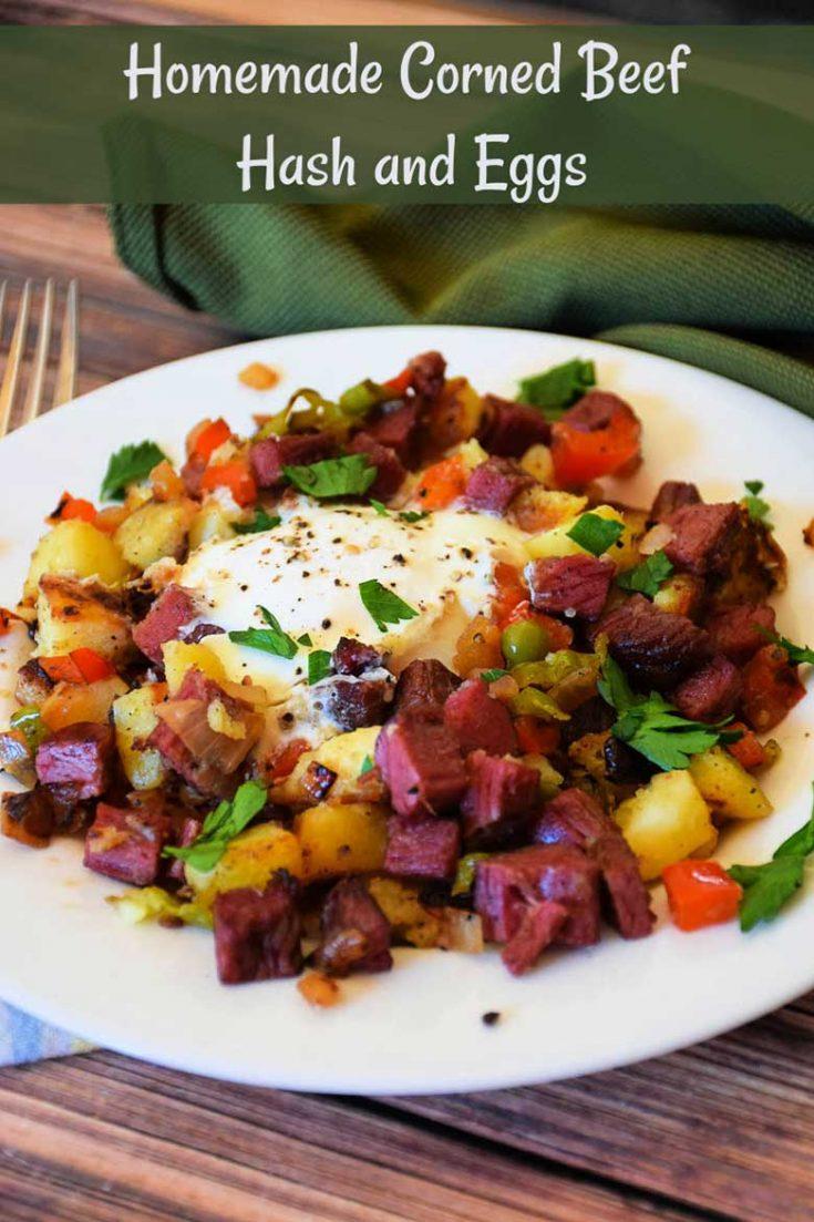 Homemade Corned Beef Hash and Eggs #ad #skillet #hash #cornedbeef #bestangusbeef #homemade #leftovers