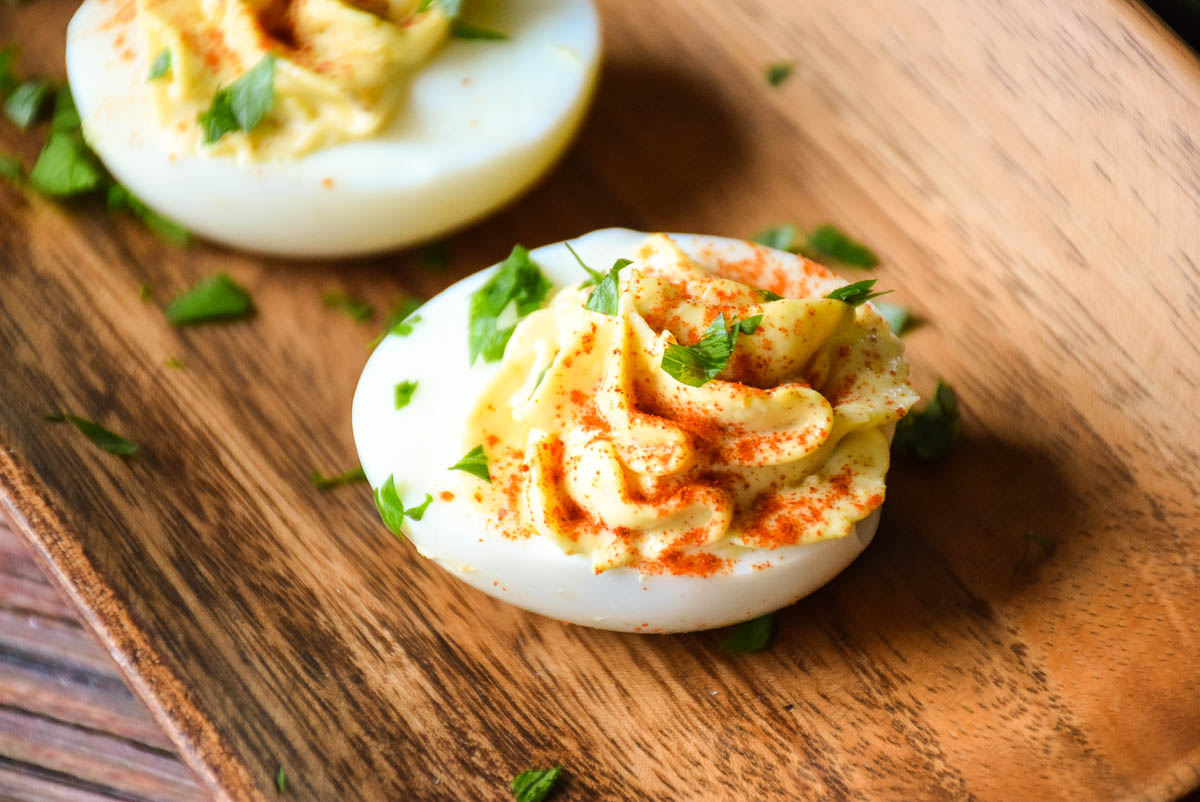 Mom's Italian Style Deviled Eggs