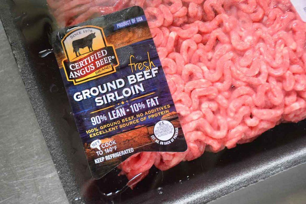 Certified Angus Beef Ground Beef in packaging