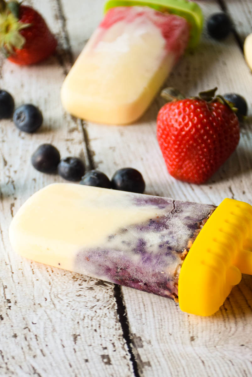 Berry Swirled Cheesecake Pops