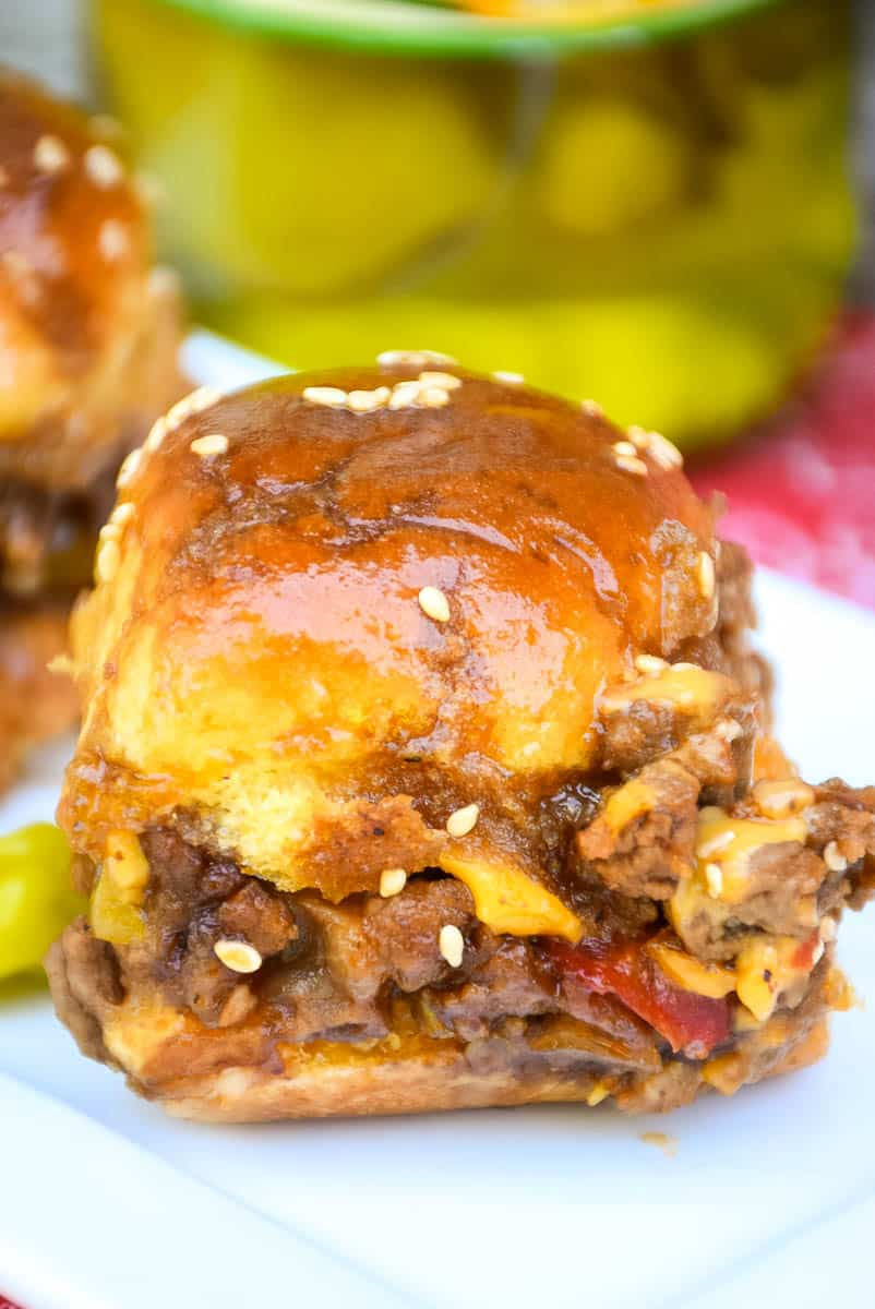 Peperoncini BBQ Cheeseburger Sliders