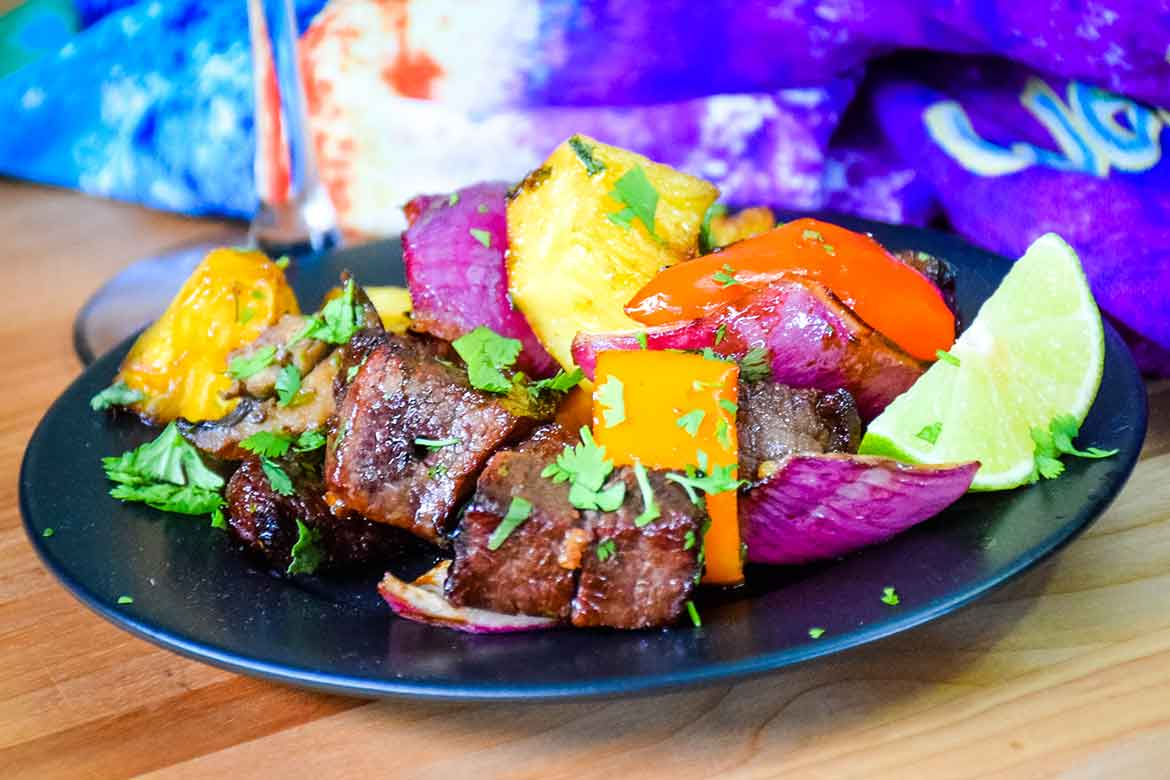Sweet and Spicy Beef Kabobs